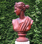 Diana Chasseresse Antiqued Bust
