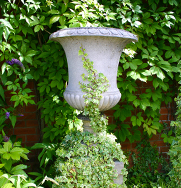 Chambard Antiqued Vase Garden Ornament