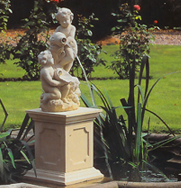 Somerset Two Putti Garden Fountain Centrepiece