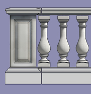 Buckingham Stone Balustrade