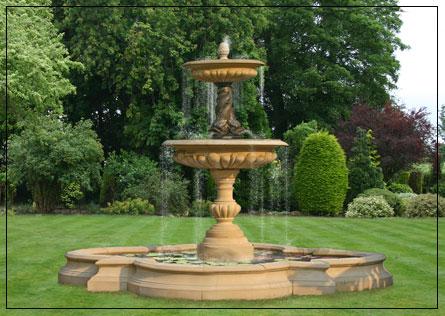 Ordinaire Large Two Tier Bronze Triple Dolphin Garden Fountain Centrepiece   Garden  Founta