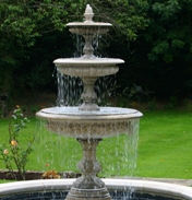 Medium Three Tiered Vermeer Garden Fountain Centrepiece