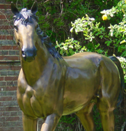 Bronze Horse Garden Ornament