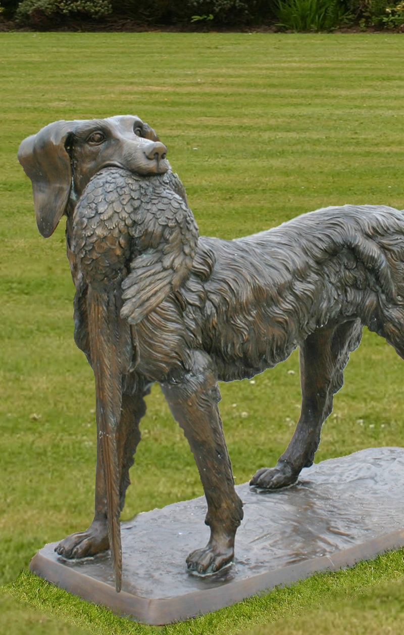 Bronze Hunting Dog Garden Ornament