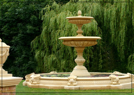 Great Large Two Tier Vermeer Garden Fountain Centrepiece   Garden Fountains  Fountains.
