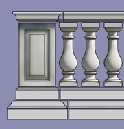 Hampton Range Stone Balustrade