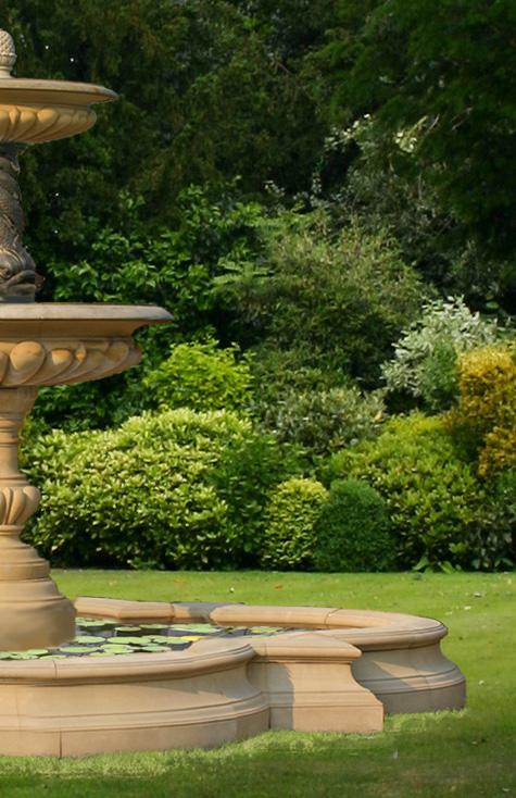 The david sharp studio garden fountains pool surrounds for Garden pool surrounds
