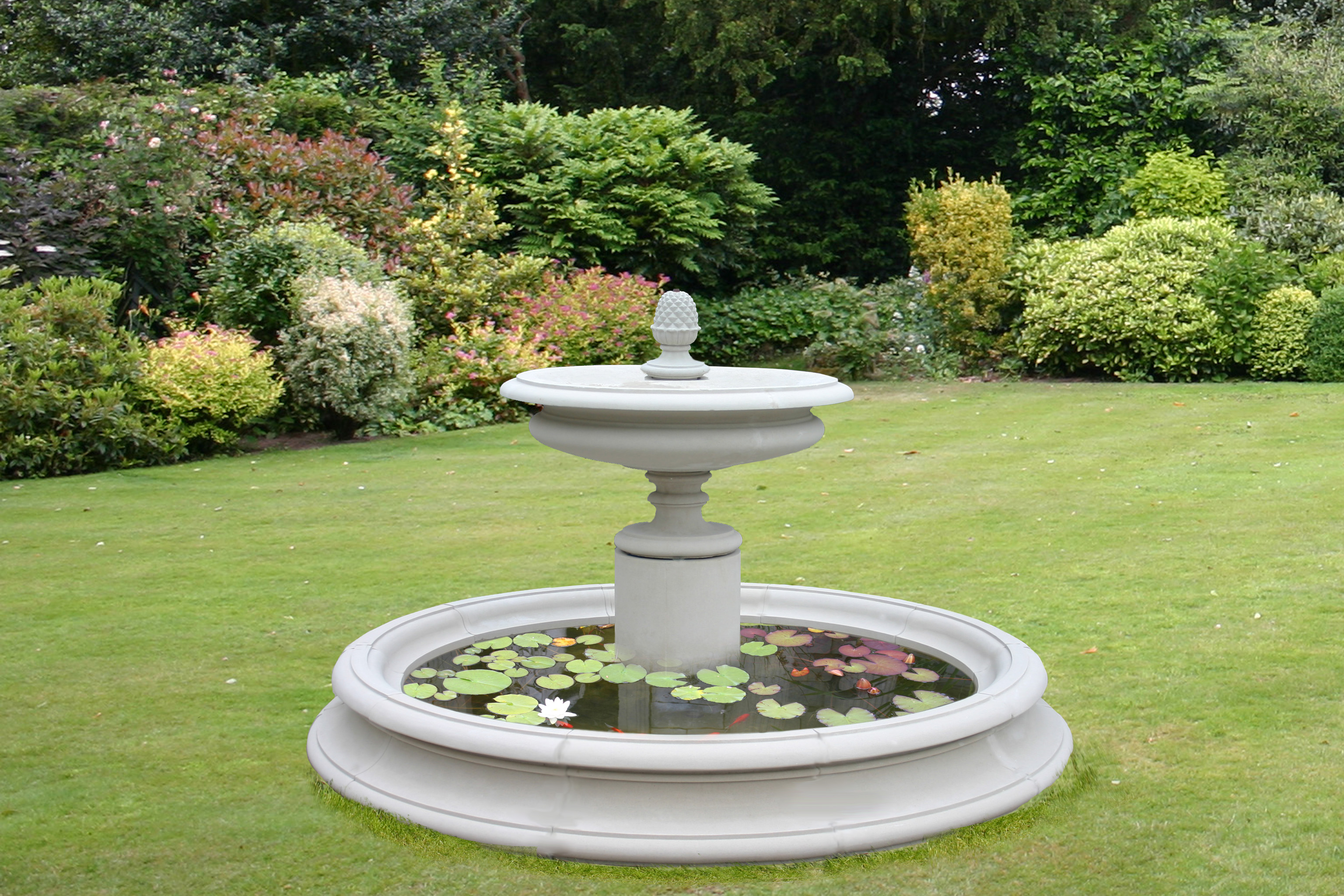 The welham garden fountain centrepeice for Garden waterfall fountain