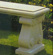 Single Straight Scrolled Garden Bench