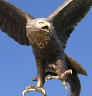 Bronze Eagle Garden Ornament