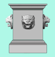 Lion's Mask Pedestal