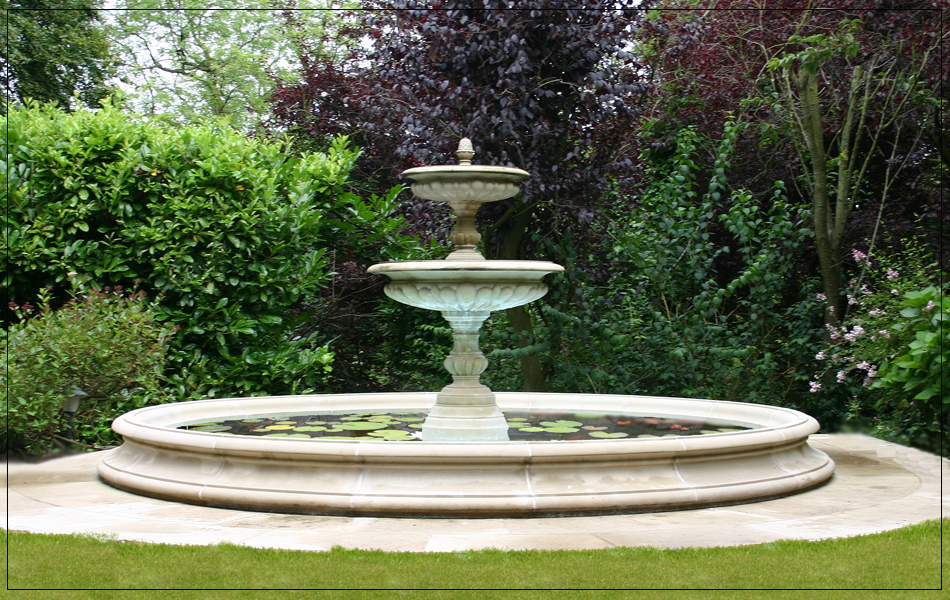 Lovely Fountain Centrepiece Garden Ornaments Medium Two Tier   Garden Fountain  Centrepi