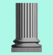 Knightsbridge Short Fluted Pedestal