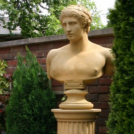 Antinous Stone Bust by the David Sharp Studio