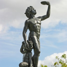 Bacchus Bronze Garden Statue by the David Sharp Studio