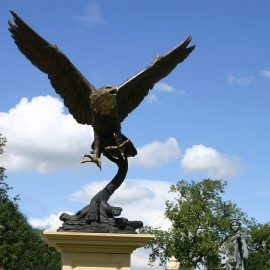 Bronze Eagle Garden Statue by the David Sharp Studio