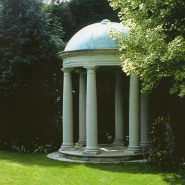 Classical Temple with Antique Copper Finish Roof Dome david sharp studio