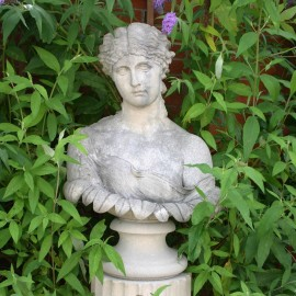 Stone Clytie Classical Bust by the David Sharp Studio