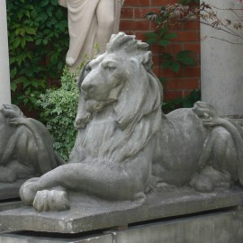 Stone Flaxton Lions by the David Sharp Studio