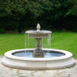 Medium One Tier Vermeer Garden Fountain by the David Sharp Studio