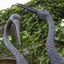 Pair Of Bronze Storks by the david sharp studio