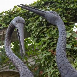 Pair Of Bronze Storks by the david sharp studio