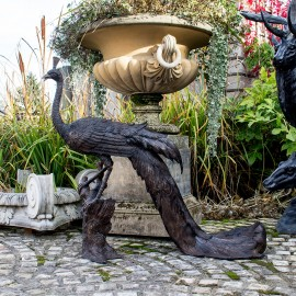 The David Sharp Studio Bronze Peacock