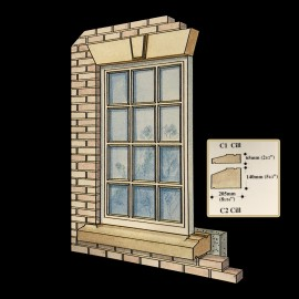 Stone Window Cill by the David Sharp Studio