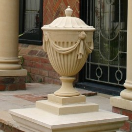 Beautiful Stone Coadstone Urn by The David Sharp Studio