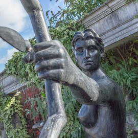 Bronze Diana The Huntress Garden Statue david sharp studio