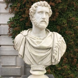Emperor Hadrian Stone Classical Bust by the David Sharp Studio