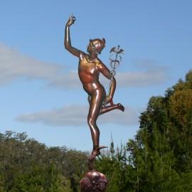 Small Bronze Medici Mercury Garden Statue by the david sharp studio
