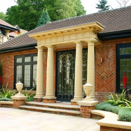 The David Sharp Studio Doric Stone Porticos