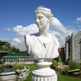 Diana Chasseresse Marble Bust