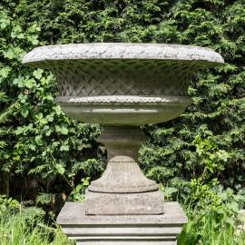 Belvior Antiqued Vase Garden Ornament David Sharp Studio