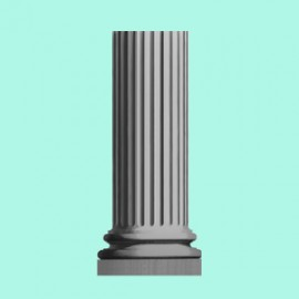 Knightsbridge Fluted Garden Pedestal by the David Sharp Studio