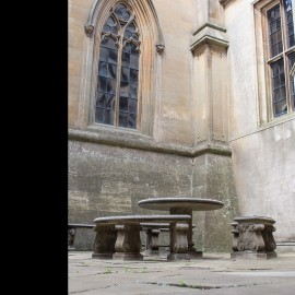 The Justice Stone Garden Table shown at Belvoir Castle