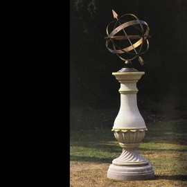 Keats Stone Base & Armillary by the David Sharp Studio