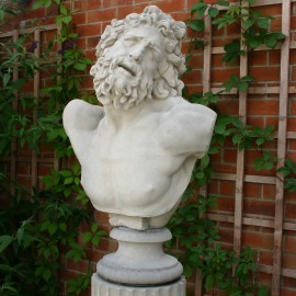 Stone Laocoon Bust by the David Sharp Studio
