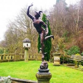Large Bronze Medici Mercury garden Statue david sharp studio