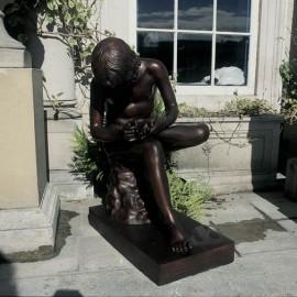 Spinario Bronze Garden Stautue by the David Sharp Studio