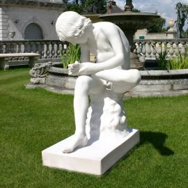 Spinario Marble Garden Statue