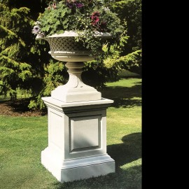 Roxburgh Stone Garden Pedestal by the David Sharp Studio