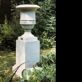 St James Stone Garden Pedestal by the David Sharp Studio