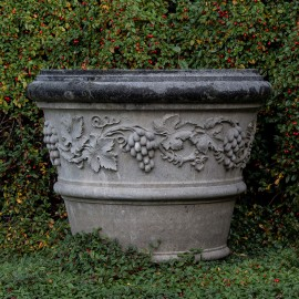 David Sharp Studio Toscana Vine Leaf Stone Planter