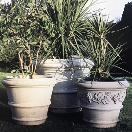 Stone Verona Planters by The David Sharp Studio