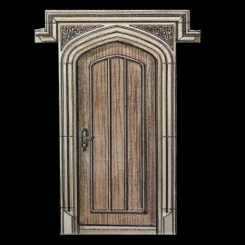 Tudor / Gothic Stone Door Surround by the David Sharp Studio
