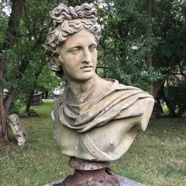 Apollo Belvedere Stone Bust by the David Sharp Studio