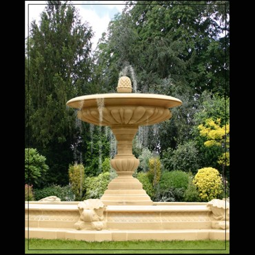 Large One Tier Vermeer Garden Fountain Centrepiece