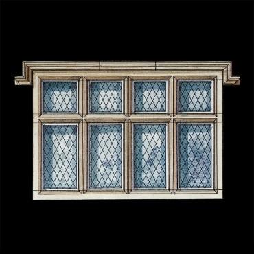 Tudor Gothic Stone Window by the David Sharp Studio